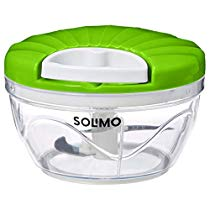 Brand – Solimo 500 ml Vegetable Chopper with 3 Blades, Green at Rs 199 | Amazon Offer