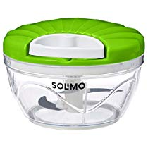 Brand – Solimo 500 ml Vegetable Chopper with 3 Blades, Green at Rs 229 | Amazon Offer