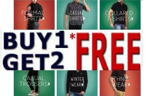 Buy 1 Get 2 Free offer on Fashion Product + 10% cashback at Rs 799   Myntra Offer