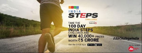 Goqii App Take India Steps Challenge 2019 and Win Rs.5 Crore Rewards