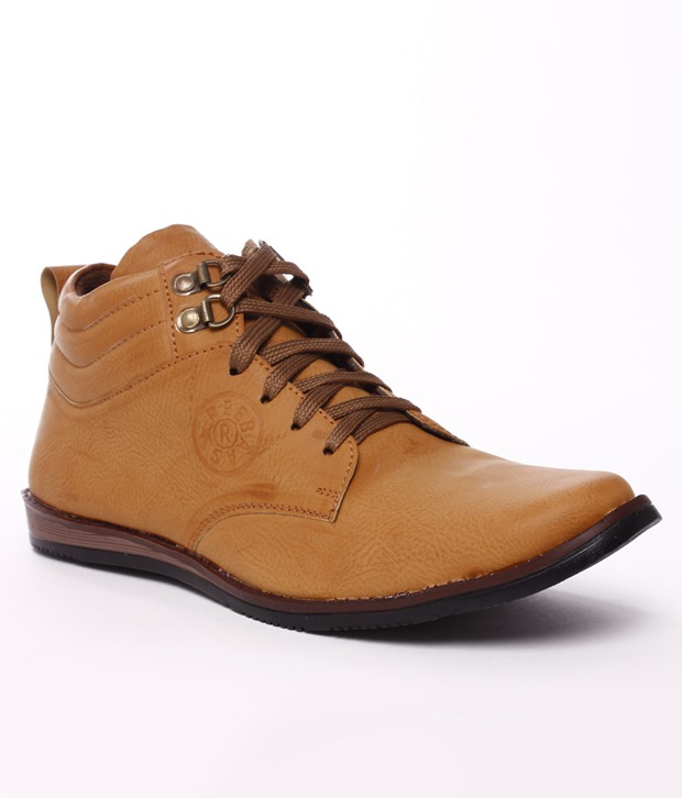 Brown Ankle Length Shoes @ 499 Only !!