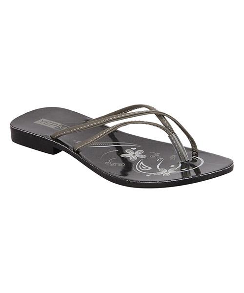 Yepme Black & Grey Sandals @ just Rs 99/-