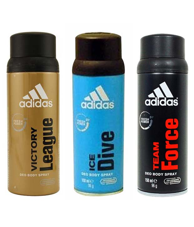 Adidas 3 deodorants set at Rs 396.