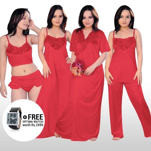 Shop Free buy 6 set of Nightwear & Get Watch of Rs 2499 FREE