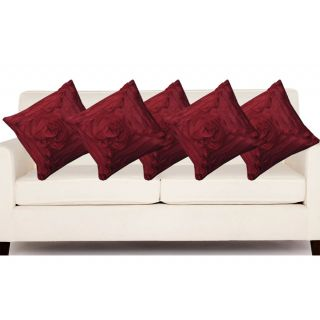 5 attractive rose design cushion cover