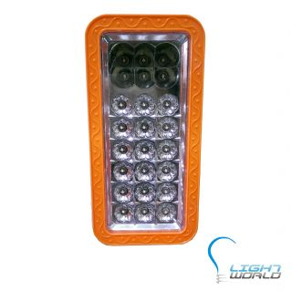 18 LED Rechargeable Emergency Light + 6 LED Bright Torch