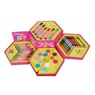 46 Piece Art Set (PCS Color SET, Color Pencil, Crayons, Oil Pastel, Sketch Pens)