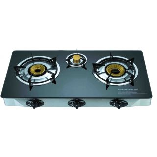 3 Burner Automatic Gas Stove with Marble Finish