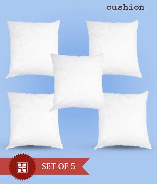 Stylish White Cushions/Pillow/Bolster/Round Cushion Sets (Save 600 Rs)