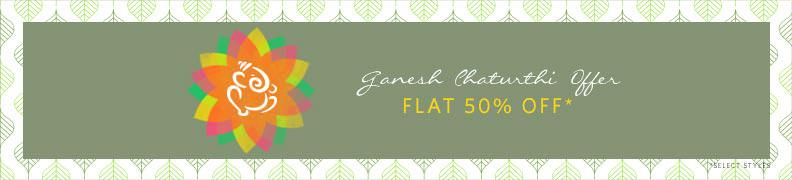 Ganesh Chaturthi offer flat 50% OFF