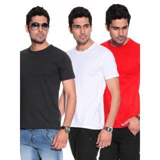 Nemis Round Neck Dry fit T-Shirt combo of 3