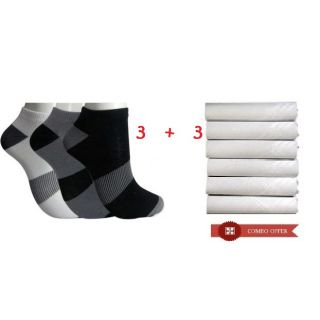 Unisex Socks & Handkerchief Pack 3+3 Pcs at Rs 63.