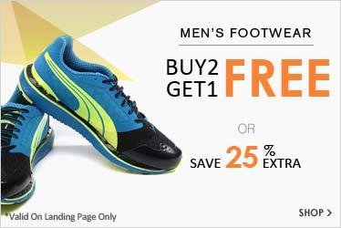 Buy 2 & Get 1 Free on Footwear- Baap sale