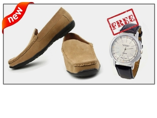 Buy Loffers Shoes @ 699 & Get Watch worth 1500 Free ( Baap Dhamaka offer )