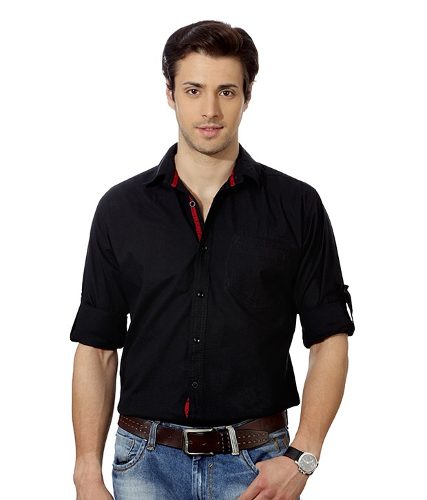 Black Shirt at Rs 360. for July 2017 | Clothing Coupons