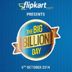 Flipkart The BIG Billion Day is Coming 6 Oct !!