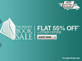 Flat 55% Off on Books + Free Shipping On every book - Flipkart