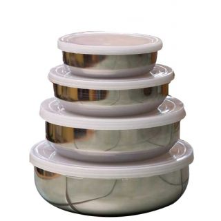 Set of 4 Steel Containers at just Rs 149/-