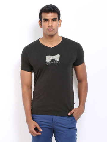 Men Charcoal Grey Tshirts at Rs 299.
