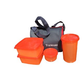 Set of 4 Lunch Box With Insulated Bag at Rs  149.