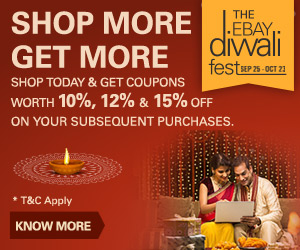 Ebay Diwali loot is On- Mobiles, Powerbanks, Laptops at Lowest Price ever