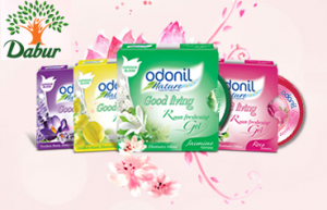 Free sample of Dabur Odonil Nature Room Freshening Gel