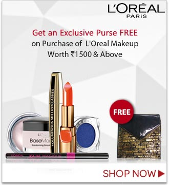 Free Purse On Loreal Product Purchase worth 1500, Products Start at 80Rs