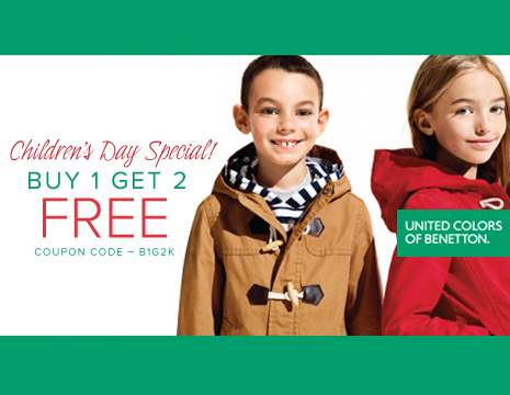Buy 1 Get 2 Free On UCB clothing for Kids