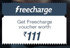 Get Rs. 111 Cashback on a minimum Rs. 100 recharge from FreeCharge