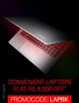 Flat 6000 Rupees Off on Laptops. Use Coupon Code.