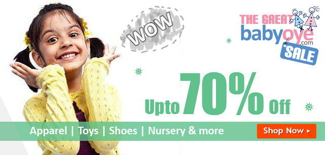 Minimum 50% off on Toys starts At Rs. 60 - Babyoye offer