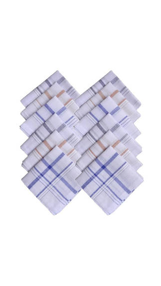 Pack of 12 Handkerchief at Rs 275.