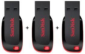 8GB Sandisk Pen Drive (Pack Of 3) at Rs.520