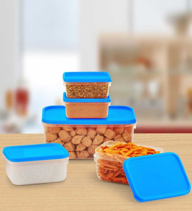 Kitchen Container 5 Pcs Set -Blue
