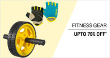 Upto 70% off on Fitness Products.Starting at Rs 89.