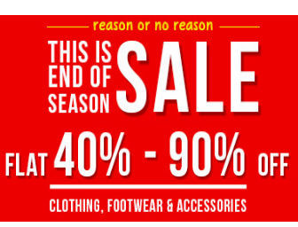 Snapdeal End of Season Sale Upto 90% off