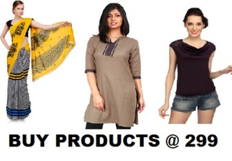 Women Clothing Sale - Buy Saree, Kurti, Tops & More all Under Rs.299
