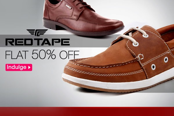 Flat 50% Off on Redtape Shoes Plus Extra 15% Off- Fashionara