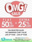 Flat 50% off plus 25% off OnWith No minimum purchase