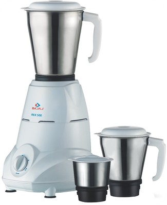 Bajaj Rex 500 Mixer Grinder with 3 Jars @ 47% Off