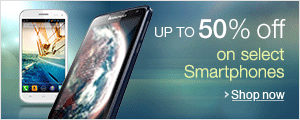 Upto 50% off on Mobile Phones.Starting at Rs 2299.