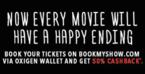 Flat 50% cashback on Bookmyshow