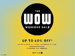 Myntra WOW Weekend Sale Flat 60% Off