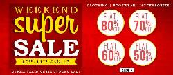 Snapdeal Weekend Supper Sale - Flat 80% Off