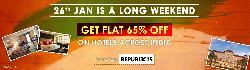 65% Off on Hotel Bookings- Long Weekend Sale, See Details