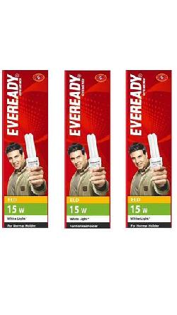Eveready Pack Of 3 CFL at Rs 299.