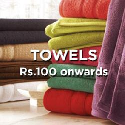 Towels Starting at Rs 100.