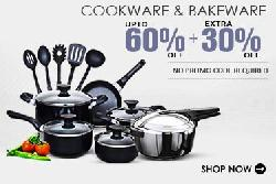 Cookware and Bakeware Upto 60% Off + Extra 30% Off