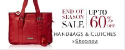 Amazon Upto 60% Off on Handbags and Clutches
