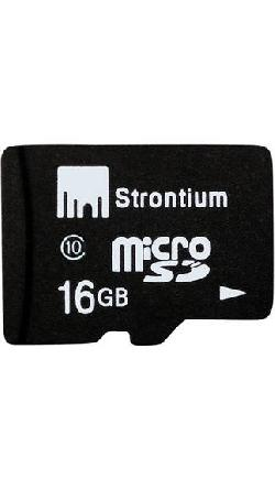 Strontium MicroSD Memory Card 16GB (Class 10) at Rs 227 : See Details